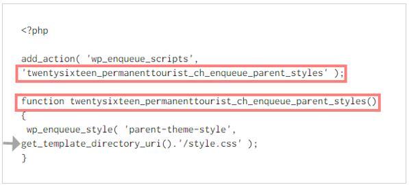 Code wp_enqueue
